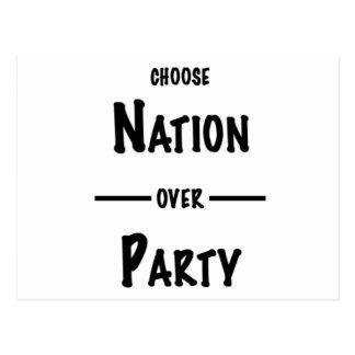 Cartão Postal Nação sobre a coleção do presente do partido