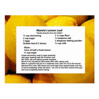 Cartão Postal Naco do limão de Mamie