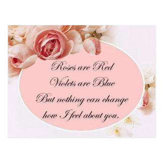 Cartão Postal Nada pode mudar como eu sinto sobre você