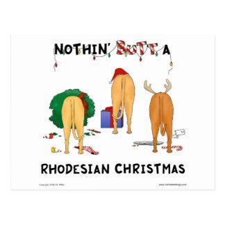 Cartão Postal Nada termina um Natal de Rhodesian