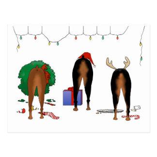Cartão Postal Nada termina um Natal do Doberman
