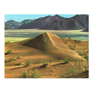 Cartão Postal Namíbia, deserto e montanhas
