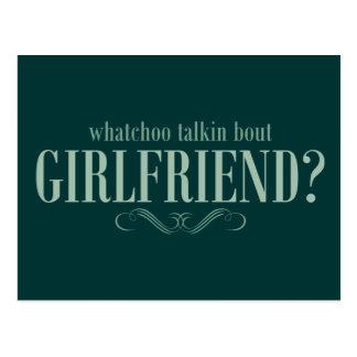 Cartão Postal Namorada do ataque do talkin de Whatchoo