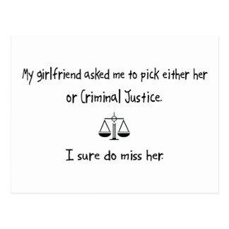 Cartão Postal Namorada ou justiça penal da picareta