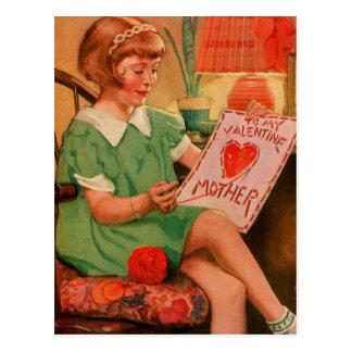 Cartão Postal Namorados a serir de mãe