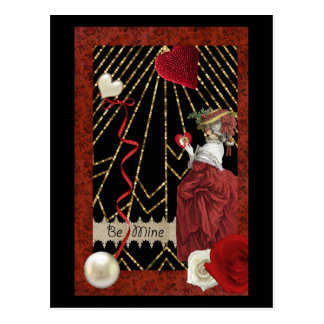 Cartão Postal Namorados da forma de Marie Antoinette dos