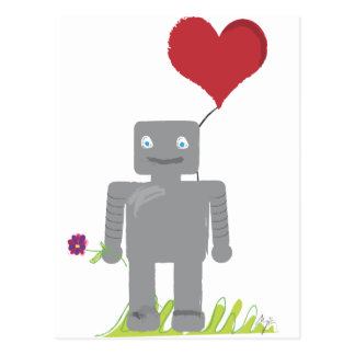 Cartão Postal Namorados do amor do robô