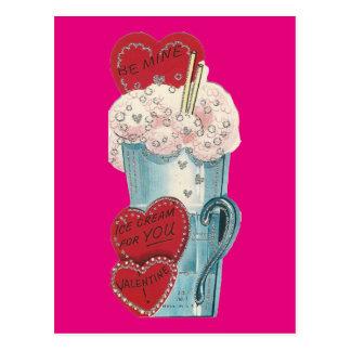 Cartão Postal Namorados do batido do vintage