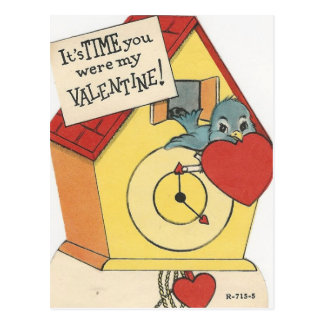 Cartão Postal Namorados do cuco do vintage