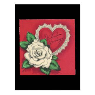 Cartão Postal Namorados do Gardenia do vintage