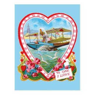 Cartão Postal Namorados do hidroavião