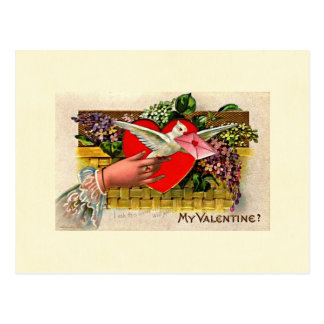 Cartão Postal Namorados do mensageiro da pomba