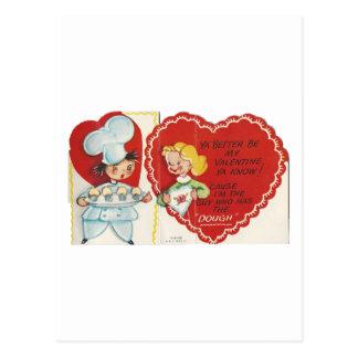 Cartão Postal Namorados do padeiro do vintage