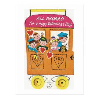 Cartão Postal Namorados do trem dos namorados do vintage