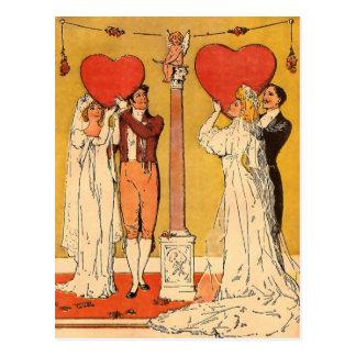 Cartão Postal Namorados do vintage