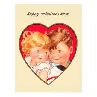 Cartão Postal Namorados dos queridos do vintage