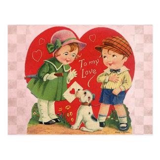 Cartão Postal Namorados para miúdos