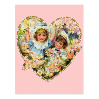 Cartão Postal Namorados românticos do vintage