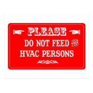 Cartão Postal Não alimente as pessoas da ATAC