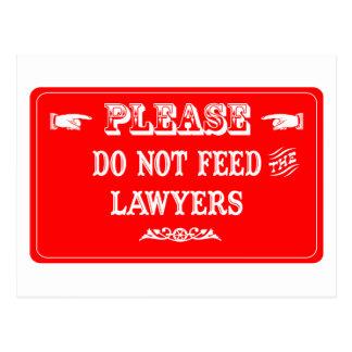 Cartão Postal Não alimente os advogados