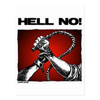 Cartão Postal Não! Anti arte da discriminação da escravidão