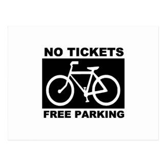 Cartão Postal Não bike nenhum bilhete