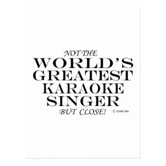 Cartão Postal Não cantor do karaoke dos mundos o grande, mas
