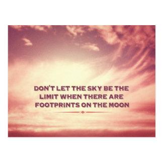 Cartão Postal Não deixe o céu ser o limite…