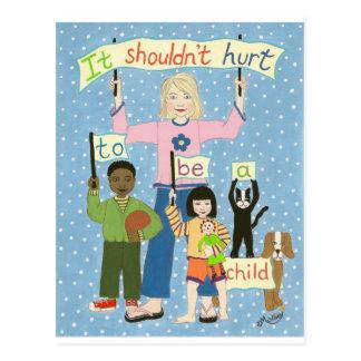 Cartão Postal Não deve ferir para ser uma criança
