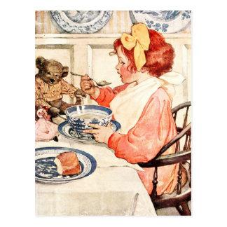 Cartão Postal Não é este papa de aveia delicioso, ursinho?