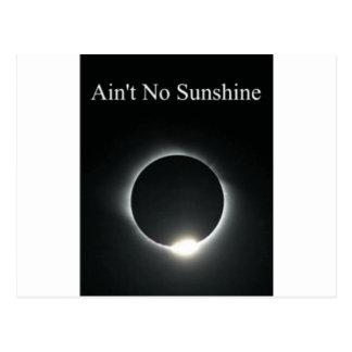 Cartão Postal Não é nenhuma luz do sol