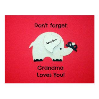 Cartão Postal Não esqueça: A avó ama-o! Neto