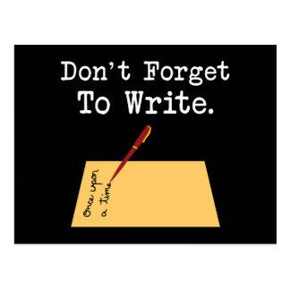 Cartão Postal Não esqueça escrever