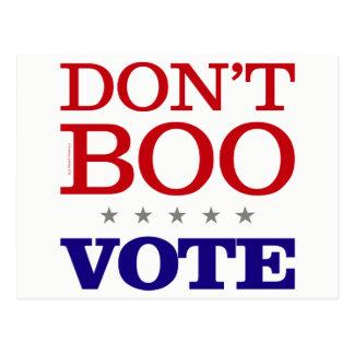 Cartão Postal Não faz o voto da vaia