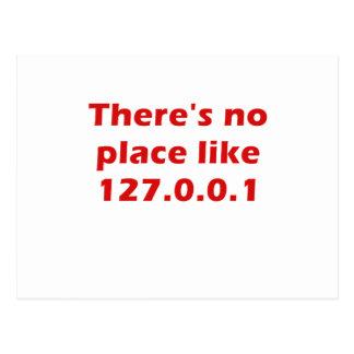 Cartão Postal Não há nenhum lugar como 127001