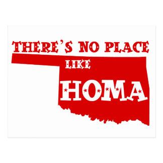 Cartão Postal Não há nenhum lugar como Homa Oklahoma