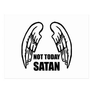 Cartão Postal Não hoje satã