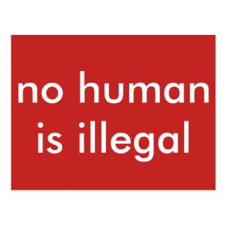 Cartão Postal não humano é ilegal