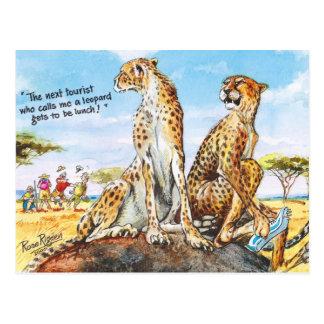 Cartão Postal Não me chame leopardo!
