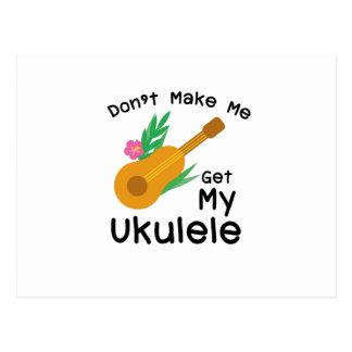 Cartão Postal Não me faça obter meu presente do melómano de Uke