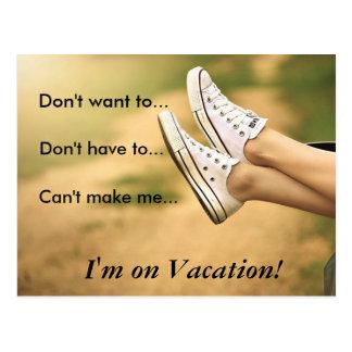 Cartão Postal Não me queira… realizam-se em férias