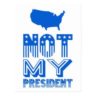 Cartão Postal Não meu azul do presidente América