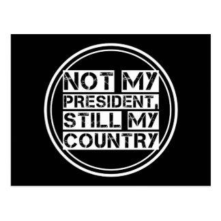 Cartão Postal Não meu presidente Preto Branco Estêncil Texto