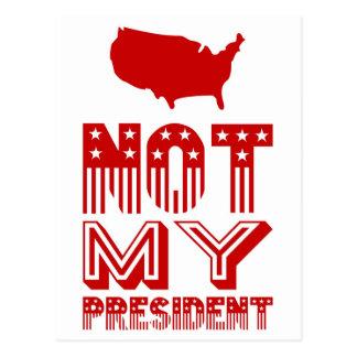 Cartão Postal Não meu vermelho do presidente América
