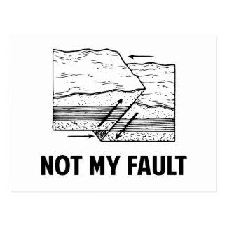 Cartão Postal Não minha falha