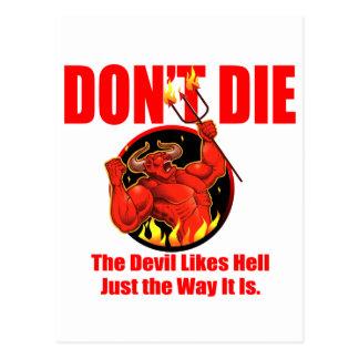 Cartão Postal Não morra…