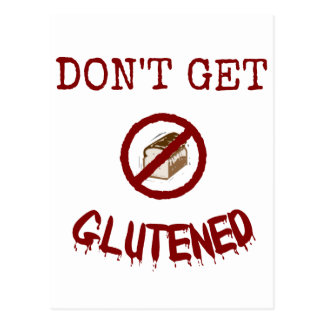 Cartão Postal Não obtenha Glutened