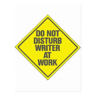 Cartão Postal Não perturbe o escritor no trabalho