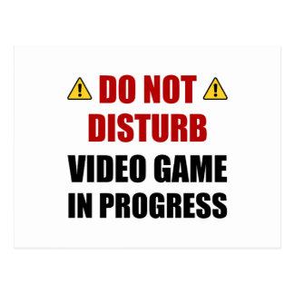 Cartão Postal Não perturbe o jogo de vídeo