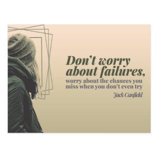 Cartão Postal Não se preocupe sobre falhas